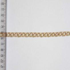 Кружево хлопковое, вязаное, KHC-0002, 8мм, цвет серо-бежевый