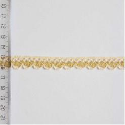 Кружево хлопковое, вязаное, KHC-0013, 15мм, цвет бежевый
