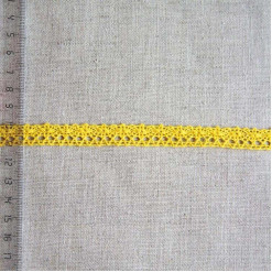 Кружево хлопковое, вязаное, KHC-0020, 12мм, цвет кукурузный