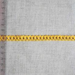 Кружево хлопковое, вязаное, KHC-0021, 10мм, цвет яично-жёлтый