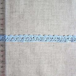 Кружево хлопковое, вязаное, KHC-0023, 12мм, цвет водянисто-голубой