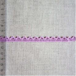 Кружево хлопковое, вязаное, KHC-0026, 10мм, цвет сиреневый