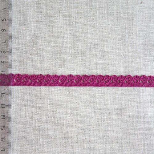 Кружево хлопковое, вязаное, KHC-0027, 10мм, цвет бордовый