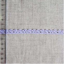 Кружево хлопковое, вязаное, KHC-0029, 10мм, цвет светло-сиреневый