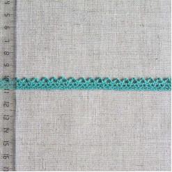 Кружево хлопковое, вязаное, KHC-0030, 10мм, цвет петроль