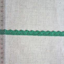 Кружево хлопковое, вязаное, KHC-0031, 12мм, цвет хвойный