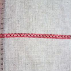 Кружево хлопковое, вязаное, KHC-0032, 8мм, цвет кирпичный