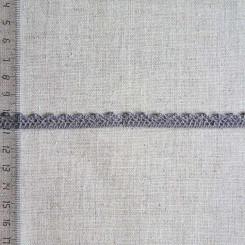 Кружево хлопковое, вязаное, KHC-0035, 10мм, цвет антрацит