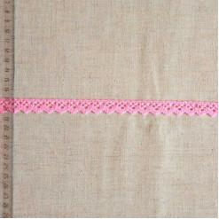 Кружево хлопковое, вязаное, KHC-0040, 12мм, цвет розовый