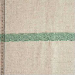 Кружево хлопковое, вязаное, KHC-0044, 25мм, цвет хвойный