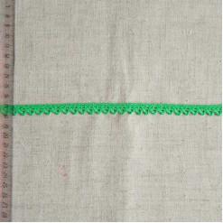 Кружево хлопковое, вязаное, KHC-0046, 10мм, цвет ярко-зеленый
