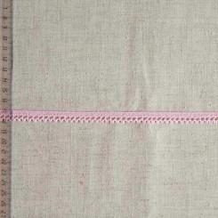 Кружево хлопковое, вязаное, KHC-0047, 10мм, цвет бледно-розовый