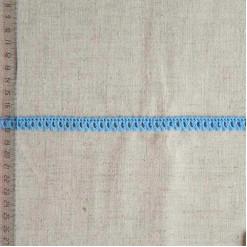 Кружево хлопковое, вязаное, KHC-0048, 10мм, цвет голубой