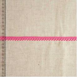 Кружево хлопковое, вязаное, KHC-0049, 10мм, цвет ярко-розовый