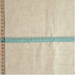 Кружево хлопковое, вязаное, KHC-0050, 15мм, цвет серо-бирюзовый