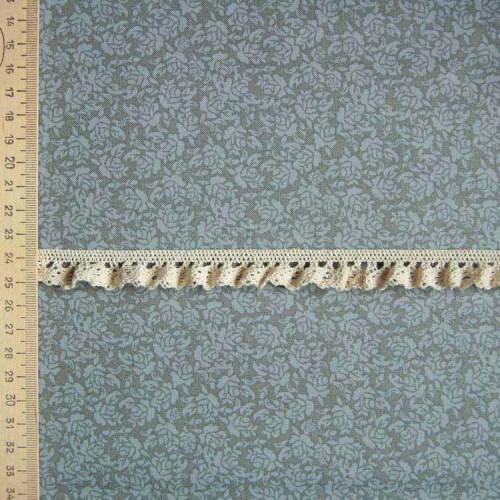 Кружево хлопковое на резинке, KHR-001, 15мм, цвет бежевый