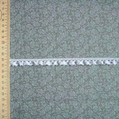 Кружево хлопковое на резинке, KHR-002, 15мм, цвет белый