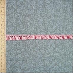 Кружево хлопковое на резинке, KHR-003, 15мм, цвет розовый