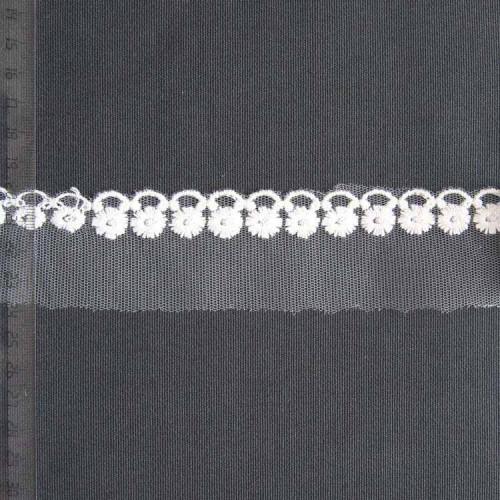 Кружево на сетке полиэстер, 40мм, KSS-0004