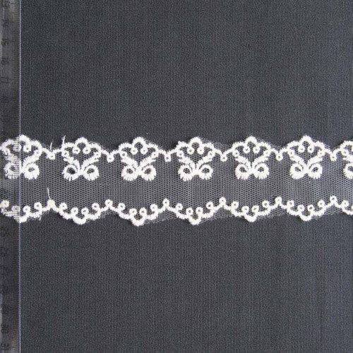 Кружево на сетке полиэстер, 45мм, KSS-0006