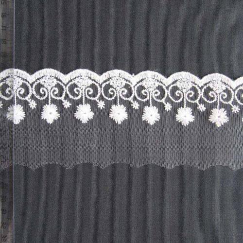 Кружево на сетке полиэстер, 70мм, KSS-0008