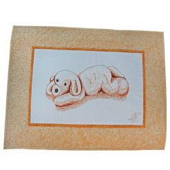 Панно лоскутное декоративное детское «Щенок»