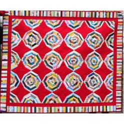 Панно лоскутное коврик «Калейдоскоп»