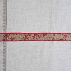 Тесьма джутовая декоративная, 25мм, TDD-002