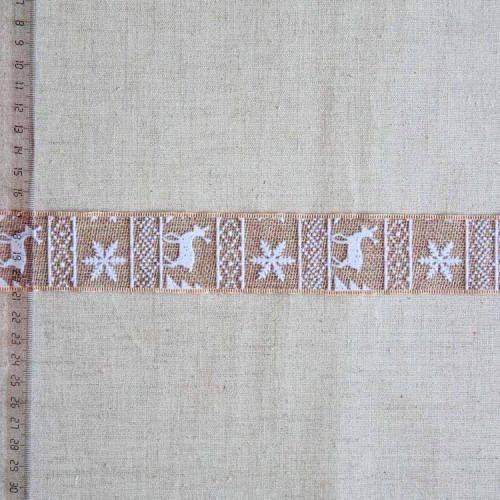 Тесьма джутовая декоративная, 38мм, TDD-003