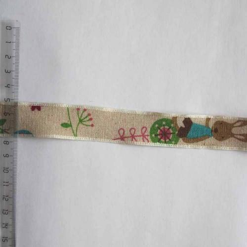 Тесьма льняная декоративная, 25мм, TDL-003