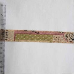 Тесьма льняная декоративная, 25мм, TDL-005