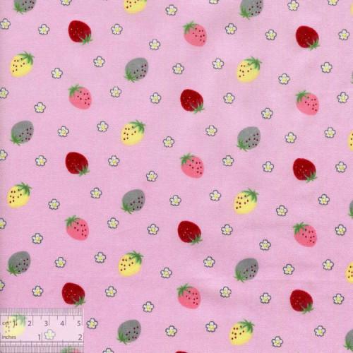 Хлопок китайский «Землянички розовый», BY-00019