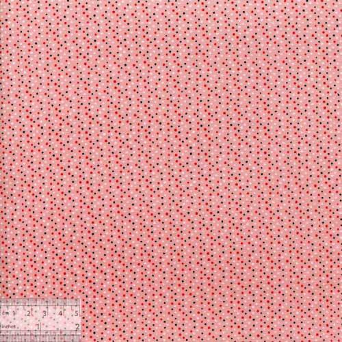 Ткань хлопок «Розовая в точечку», DFS-00024