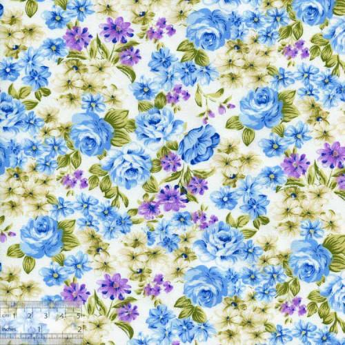 Ткань хлопок «Голубой сон», DFS-00044
