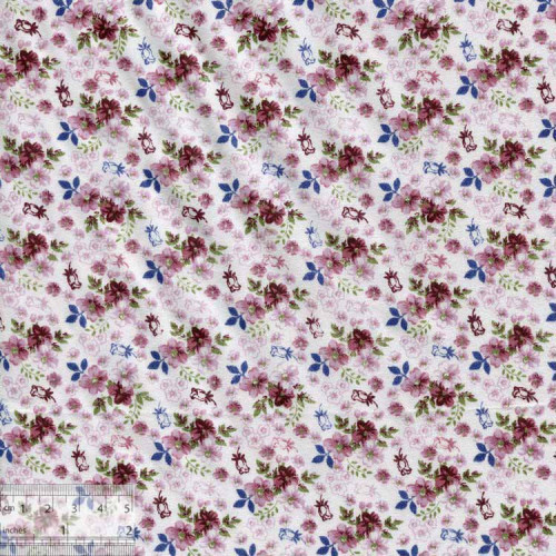 Ткань хлопок «Английский сад - лиловый», DFS-00051