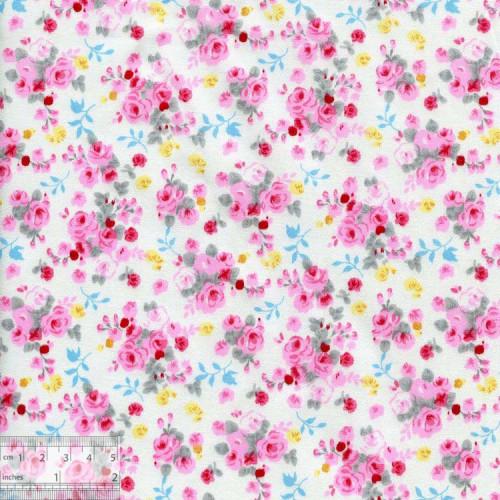 Ткань хлопок «Букет невесты розовый», DFS-00059