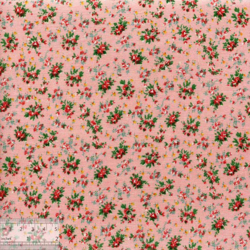"""Ткань хлопок """"Мелкие букетики - розовый"""""""
