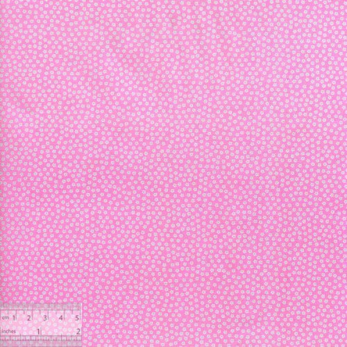 Ткань хлопок «Белые звездочки на розовом», DFS-00109