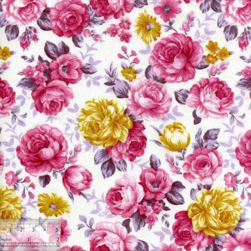 Ткань хлопок «Роза Ботичелли», DFS-00113