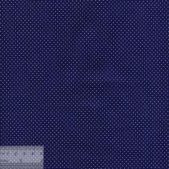 Ткань хлопок «Мелкие точечки на тёмно-синем», JL-00024