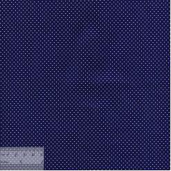 Ткань хлопок «Мелкие точечки на тёмно-синем», JL-00024, 75х50см