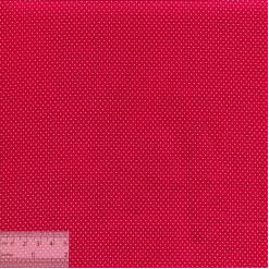 Ткань хлопок «Точечки белые на красном», JL-00033
