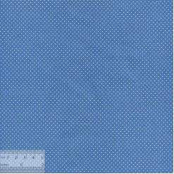 Ткань хлопок «Точечки белые на синем», JL-00034