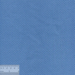 Ткань хлопок «Точечки белые на синем», JL-00034, 75х50см