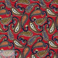 Ткань хлопок «Огурцы пейзули на красном», JL-00039