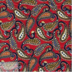 Ткань хлопок «Огурцы пейзули на красном», JL-00039, 75х50см
