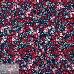 Ткань хлопок «Брусника», JL-00056, 75х50см