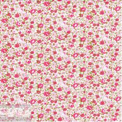 Ткань хлопок «Розовая лужайка», JL-00059, 75х50см