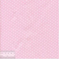 Ткань хлопок «Горошек на бледно-розовом», JL-00063, 75х50см