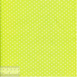 Ткань хлопок «Горошек на лимонном», JL-00064, 75х50см